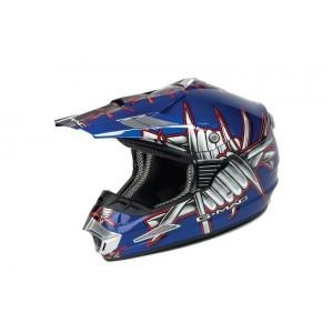 Slasher MX Helmet by G Mac in Blue or Red